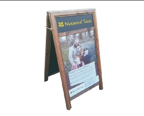 A-Frame Poster Holder with Display Panel.Image