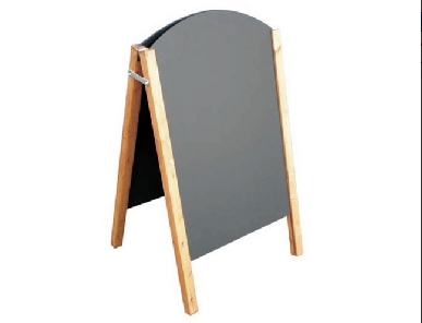 A-Frame Rounded Top Chalk Board.Image