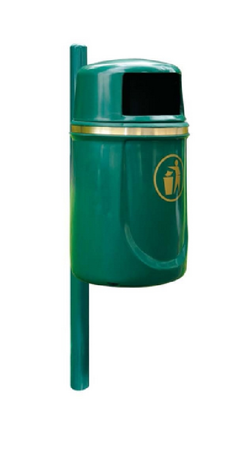 Aunis 40 Litre Litter Bin - Post Mounted.