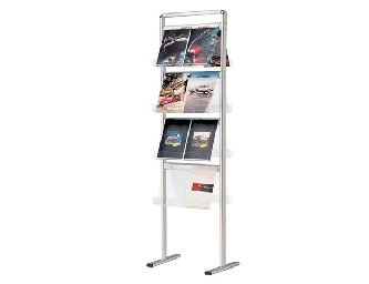 Brochure Display Unit Double Stand.