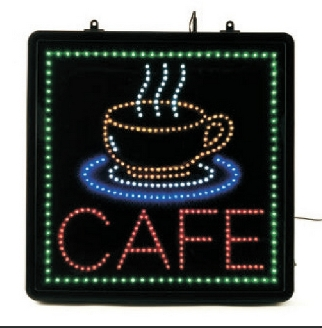 Cafe LED Sign.