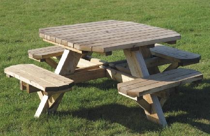 Octagonal Table.
