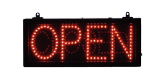Open Closed LED Sign.