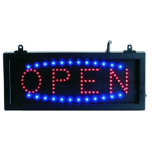 Open LED Sign.