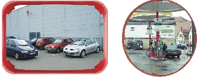 Red Frame Multi-Purpose Unbreakable Mirrors.