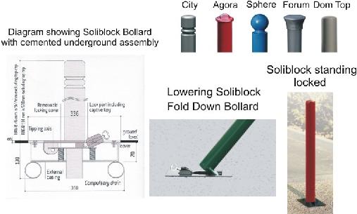 Soliblock Fold Down Bollards.Image