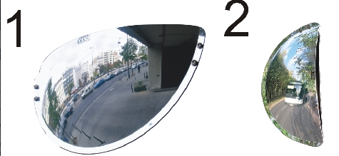 Wide Angle Driveway Unbreakable Mirrors.